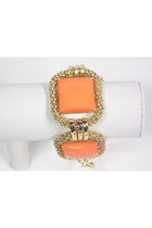 Orange-coral-goldtone-my-alexas-store-bracelet