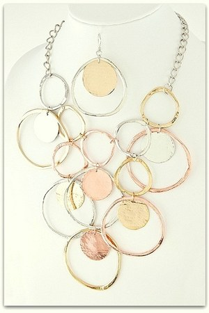 gold multi tone My Alexas Store necklace