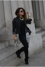 Black-nasty-gal-boots-gray-gap-jacket-gray-quay-australia-sunglasses