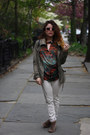 Brown-lulus-boots-army-green-h-m-coat-peach-forever-21-sunglasses