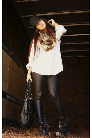 black Target boots - black fedora Rue 21 hat