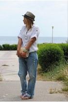 H&M jeans - H&M shirt - BLANCO bag - Uterque ring