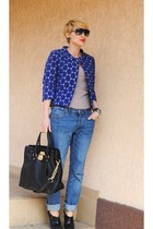 Marni blazer - Topshop jeans - Michael Kors bag