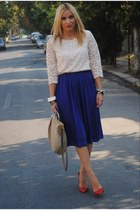 H&M blouse - Zara shoes - Miu Miu bag - H&M skirt