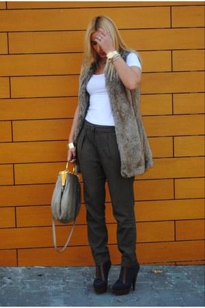 Zara vest - asos boots