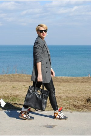 Michael Kors bag - pull&bear blazer - H&M pants