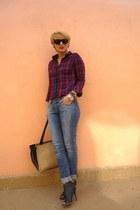 Sfera shirt - calvin klein boots - romwe bag
