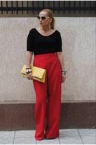 DIY bag - H&M blouse - DIY pants