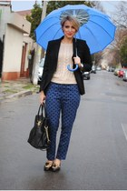 Glow pants - Zara blazer - Michael Kors bag