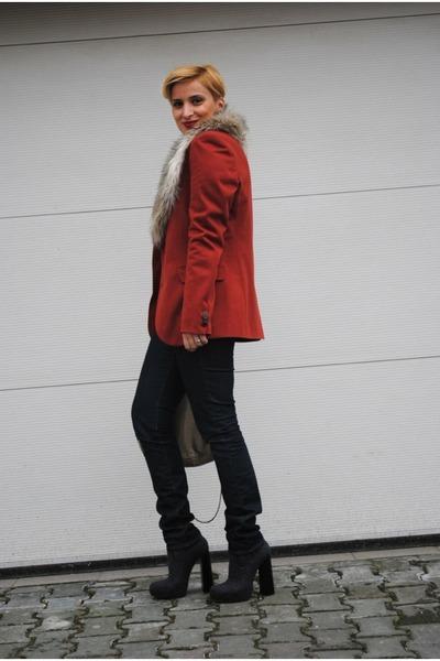 Alexander Wang boots - Zara blazer - Miu Miu bag