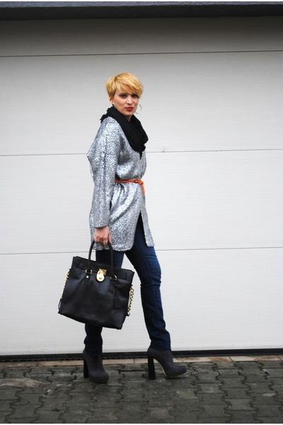 H&M blazer - Alexander Wang boots - Michael Kors bag