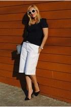 Ralph Lauren shorts - Mango blouse - Zara heels