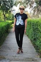 Moschino t-shirt - Mango heels