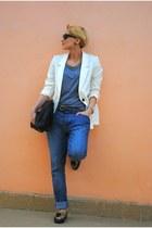 Topshop jeans - H&M blazer - Zara bag - OASAP loafers - H&M t-shirt
