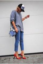 Zara heels - Topshop jeans - Phillip Lim bag - H&M jumper