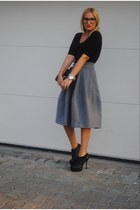 H&M skirt - Miss Kg shoes - H&M bag