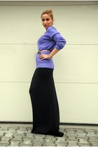 black no name dress - purple Polo Ralph Lauren sweater - light brown Zara belt -