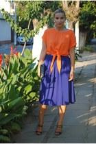 Miu Miu heels - Glow blouse - H&M skirt