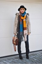 Zara jeans - H&M hat - Mango jacket - new look bag