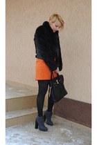 Zara skirt - Alexander Wang boots - Topshop jacket - Michael Kors bag