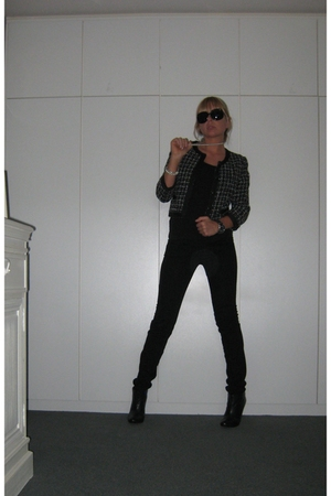 black Massimo Dutti jeans - black Zara shoes - black H&M blazer - black we glass