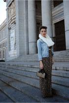 Primark jacket - Bershka dress - Parfois bag - leather vintage belt
