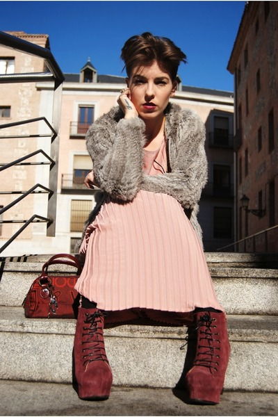 H&M dress - Dolce & Gabbana bag - leather hakei sweatshirt
