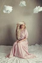 light pink thrifted vintage dress