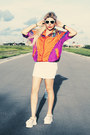 Carrot-orange-jacket-white-skirt-white-jeffrey-campbell-wedges