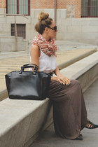 Zara bag - Prada sunglasses - Sfera top - Zara skirt