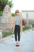 kling vest - H&M bag - zeroUV sunglasses - H&M t-shirt - Zara pants