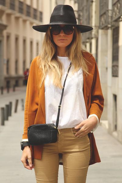 Zara jeans - Zara hat - Zara blazer - H&M purse - Dolce Gabbana sunglasses