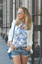 Ebay blazer - SuitBlanco shirt - Lefties bag - SuitBlanco shorts