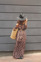 Zara dress - Zara hat - Albi bag - mo sunglasses - Zara sandals