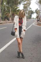 pull&bear skirt - Alpe Shoes boots - pull&bear shirt - H&M bag