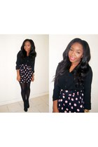 H&M blouse - Primark shoes - with polka dots H&M skirt