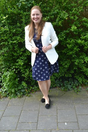 H&M blazer - Dorothy Perkins dress - H&M loafers