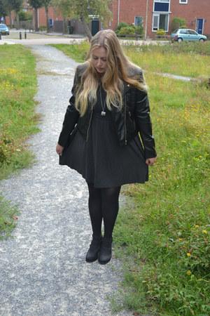 new look shoes - Vila dress - H&M jacket
