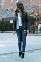 button-down Nordstrom shirt - Target boots - Charlotte Russe jeans