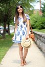 Embroidered-sheinside-dress-forever-21-hat-forever-21-sandals