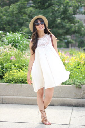 7th & Park Boutique dress - Forever 21 hat - crossbody Forever 21 bag