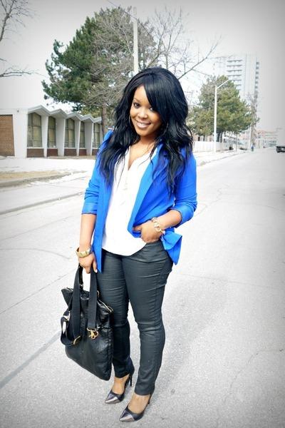 blue H&M blazer - Forever 21 jeans