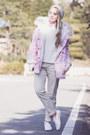 Bubble-gum-romwe-jacket-white-k-swiss-sneakers