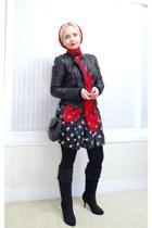 Alexander McQueen scarf - Forever21 bag - Miu Miu inspired skirt