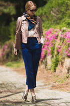 light pink Choies jacket - light pink Michael Kors bag - brown zeroUV sunglasses