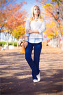Blue-forever-21-jeans-ivory-topshop-sweater-gold-miss-nabi-bag