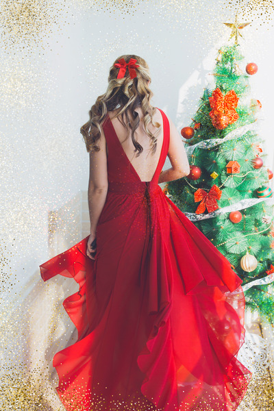 ruby red romwe dress