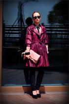 Miss Nabi coat - Miss Nabi bag - ray-ban sunglasses - YSL pumps