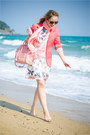 White-udobuy-dress-hot-pink-sheinside-blazer-light-pink-oasap-bag