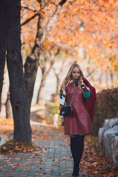 black romwe boots - brown StyledMoscow iphone case - maroon Yoins blouse